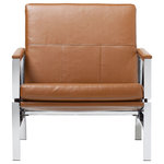 Offex - Offex Atlas Home Indoor Bonded Leather Chair, Caramel - Description: