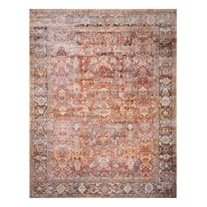 """Rust, Blue Printed Polyester Layla Area Rug by Loloi II, 9'-0""""x12'-0"""""""