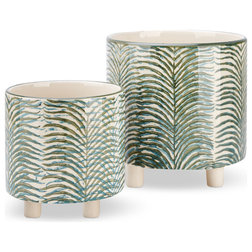 Tropical Outdoor Pots And Planters by Benzara, Woodland Imprts, The Urban Port