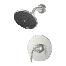 Ultra Faucets Brushed Nickel Single Handle Twist Tub and Shower Faucet