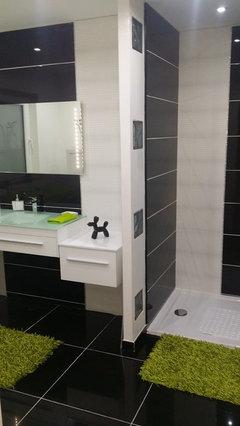 Carrelage salle de bain jusqu en haut ou pas - Salle de bain peinture ou carrelage ...