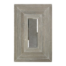 """Tonya Comer Boulevard Tennessee Taupe 16""""x24"""" Marble Tile, Antique Mirror Insert"""