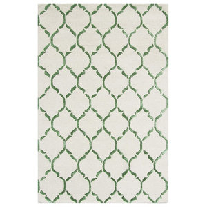 Chain Green Floor Rug, 245x155 cm