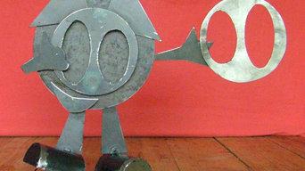 sculptures pour le festival du Groin 2014 et 2015