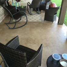 Concrete staining patio to enhance outdoor living space