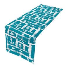 "Ocean Squares Table Runner 16""X90"""