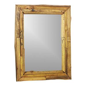 "Haussmann Mirror Ne Recycled Teak Branch 25""x32"" Rect (17""x25 View) Tung Oil"