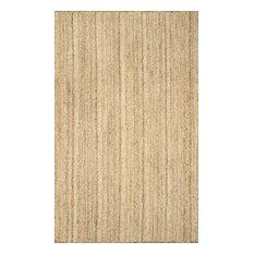nuLOOM Hand Woven Jute and Sisal Rigo Area Rug, Natural, 6'x9'
