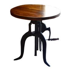 Adjustable Height Crank Table Chestnut/Black