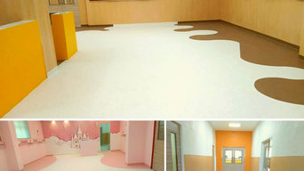 Hospitals, residential , schools, gym, corporate office, commercial flooring
