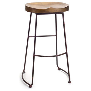 Sensational Gavin Sculpted Counter Stool Solid Acacia Seat And Black Caraccident5 Cool Chair Designs And Ideas Caraccident5Info