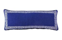 Needlepoint Greek Key Lumbar