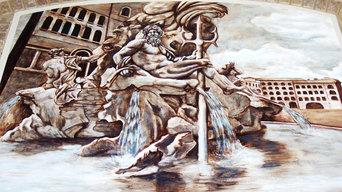 Italian Fountain Mural