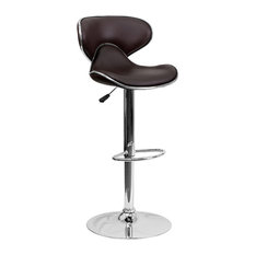 Flash Furniture - Contemporary Cozy Mid-Back Vinyl Adjustable Height Bar Stool Brown -  sc 1 st  Houzz & Most Comfortable Bar Stools u0026 Counter Stools | Houzz islam-shia.org