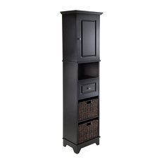 Winsome Wood Transitional Black Composite Wood Cabinet