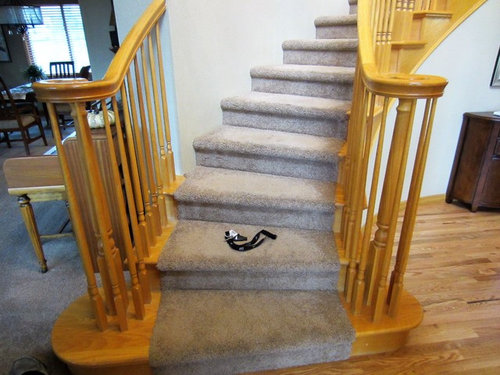NOTE: I Will Also Replace Carpet On The Stairs With A Patterned,  Flatter/more Traffic Friendly.
