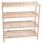 Lavish Home - 4-Tier Wood Storage Shoe Rack by Lavish Home - Keep your shoes organized and off the floor with the 4 Tier Blonde Wood Shoe Rack from Lavish Home.