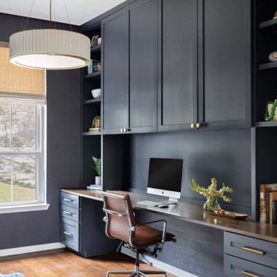 Inspiration for a transitional home office remodel in Austin