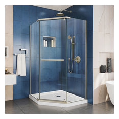 "DreamLine Prism 38 1/8""D x 38 1/8""W x 72""H Pivot Shower Enclosure Nickel"