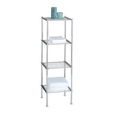 Oia Metro 4 Tier Shelf Chrome Bathroom Cabinets And Shelves