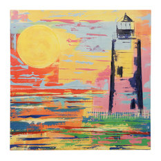 Guiding Light Art, Canvas Print with Handpainting
