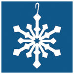 Village Wrought Iron, Inc. - Wrought Iron Decorative Hanging Silhouette, Snowflake - The Snowflake Decorative Hanging Silhouette makes a pretty accent piece in a farmhouse-style home. Made from wrought iron and shaped like a snowflake, this silhouette is simple and charming. Hang it in a living room or on an outdoor patio. Includes a hook for easy hanging.
