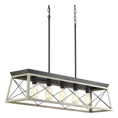 Briarwood Collection Five-Light Linear Chandelier, Graphite