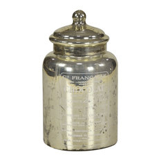 Chocolate Antique Glass Canister With Lid