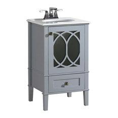 simpli home ltd paige bath vanity with white quartz marble top gray