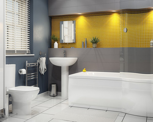 Yellow Tile Home Design Ideas, Pictures, Remodel And Decor
