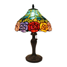 Amora Lighting Am036Tl12 Tiffany Style Roses Table Lamp 19 In