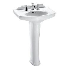 Toto Lpt642.4#01 Dartmouth 25x18 Cotton White Pedestal Lavatory Sink