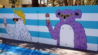 Poolside Painting