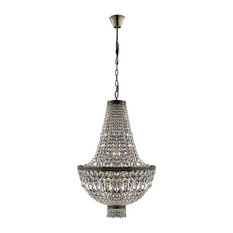 Crystal Lighting Palace French Empire 8 Light Antique Bronze Finish Clear Basket Chandelier