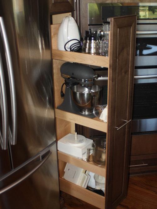 Small appliance storage houzz - Kitchen appliance storage cabinet ...