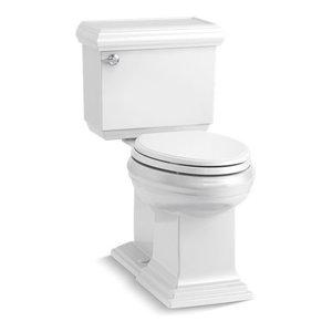 Kohler Memoirs 2-Piece Elongated 1.28 GPF Toilet w/ Left-Hand Lever, White