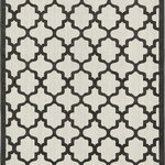Luxury Rugz - Rectangle Area Rug 5'x8' Veranda Collection, Black and White - Let Veranda boost your outdoor oasis. Woven of polypropylene, the Veranda collection is weather resistant and power loomed to give the appearance of natural fibers. Designed with an array of patterns, Veranda is simplicity in a beautiful package. If you prefer to stay inside or outside, Veranda is just the decor piece that you need.