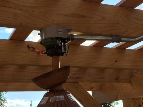 Outdoor Ceiling Fan Under Our Pergola