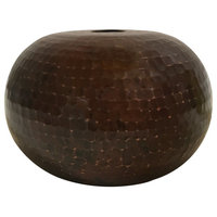 """Premier Copper Products Hand Hammered Copper 7"""" Globe Pendant Light Shade"""