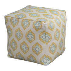 Rizzy Home Natural Diamond, Oga Pattern Pouf
