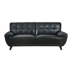 Nicole Leather Craft Sofa, Black
