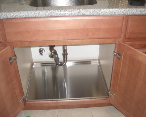 protect your sink base cabinet with trays kitchen sink cabinet tray - Sink Cabinet Kitchen