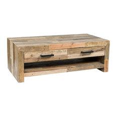 Kosas   Kosas Home Norman Reclaimed Pine 4 Drawer Coffee Table, Natural  Multi Tone