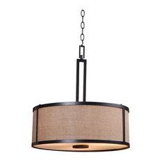 50 most popular pendant lights with a fabric shade for 2018 houzz kenroyhome keen 3 light pendant bronze pendant lighting aloadofball Choice Image