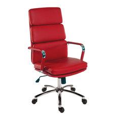 Tipton Office Furniture Retro Executive Chair Supple Faux Leather Bright Chrome