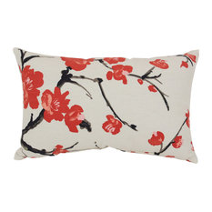 Flowering Branch Rectangle Throw Pillow