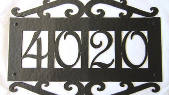 APH14 Spanish style wrought iron address plaques