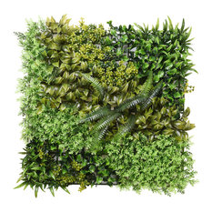 "20x20"" Artificial Hedge Panel Greenery Wall Fence Mat Privacy Screen Decor 12pc"