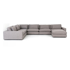Berezi 6-Piece Sectional With Ottoman Pewter Grey