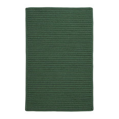 Colonial Mills, Inc - Braided Simply Home Solid, 10', Area Rug, Myrtle Green, Square 10' - Outdoor Rugs